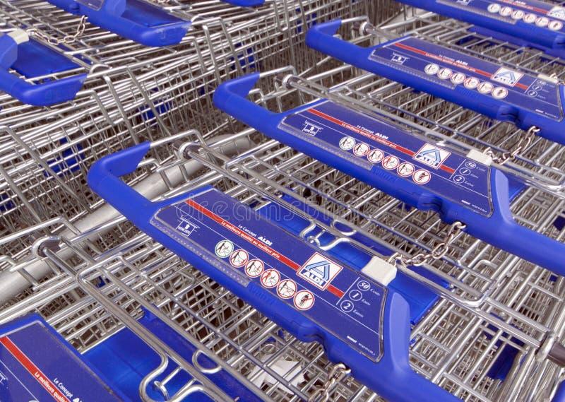 Aldi shopping carts editorial stock image  Image of german