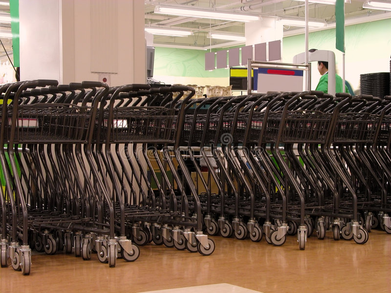 Shopping carts area royalty free stock image