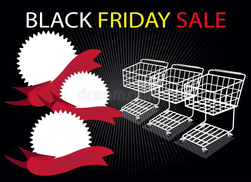 Download Shopping Carts And Banners On Black Friday Backgro Stock Vector - Illustration: 32689094