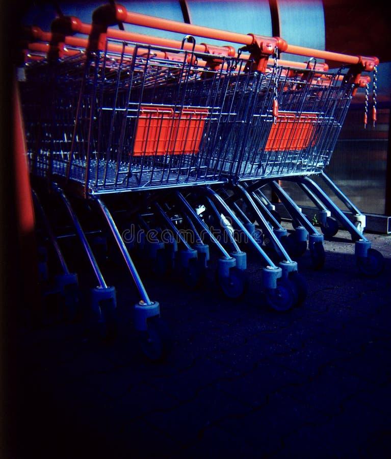 Shopping carts (lomo) royalty free stock photo