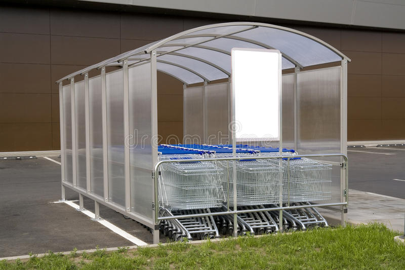 Shopping Carts For Purchases Stock Photo