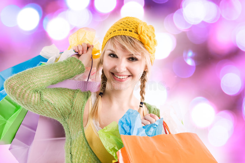 Download Shopping caucasian girl stock image. Image of caucasian - 6845267