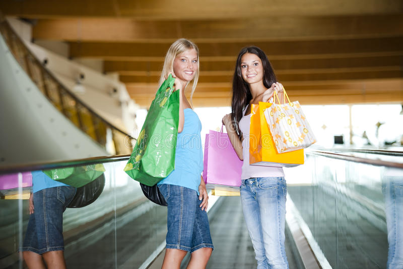 At shopping center