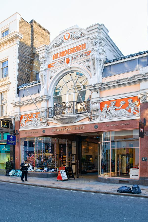 Shopping center architecture in London city UK stock photos