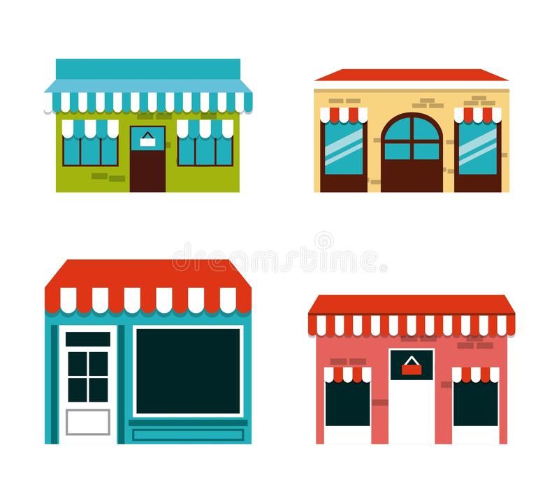 Shopping center design. Illustration eps10 graphic vector illustration
