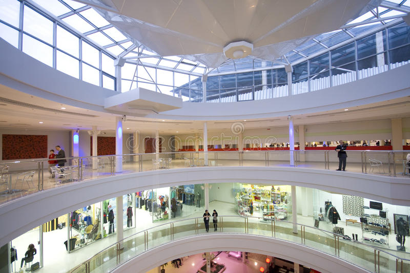 Download Shopping center interior editorial photography. Image of trade - 21595002