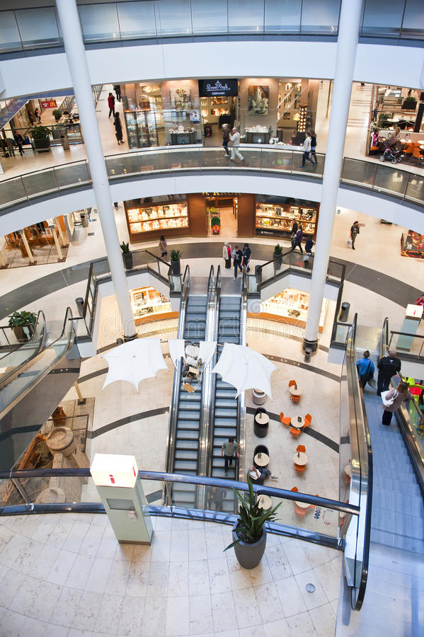 Download Shopping center interior editorial stock image. Image of architecture - 22459419
