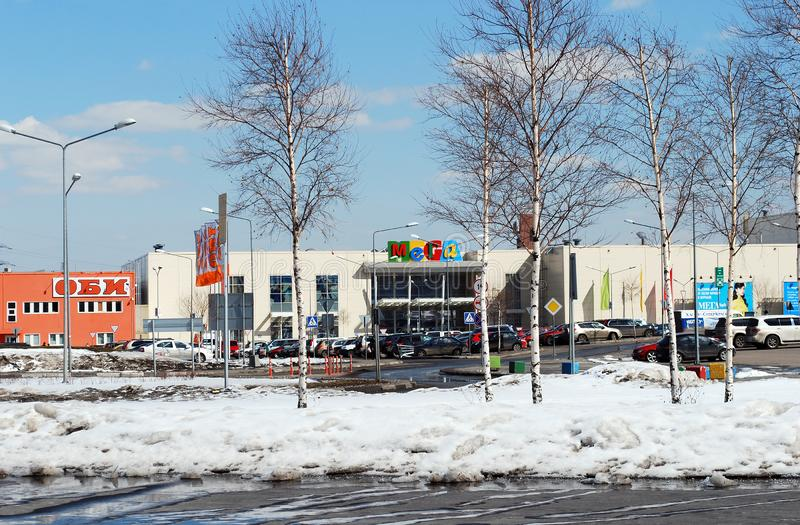 Shopping center MEGA in Khimki. Moscow stock photo