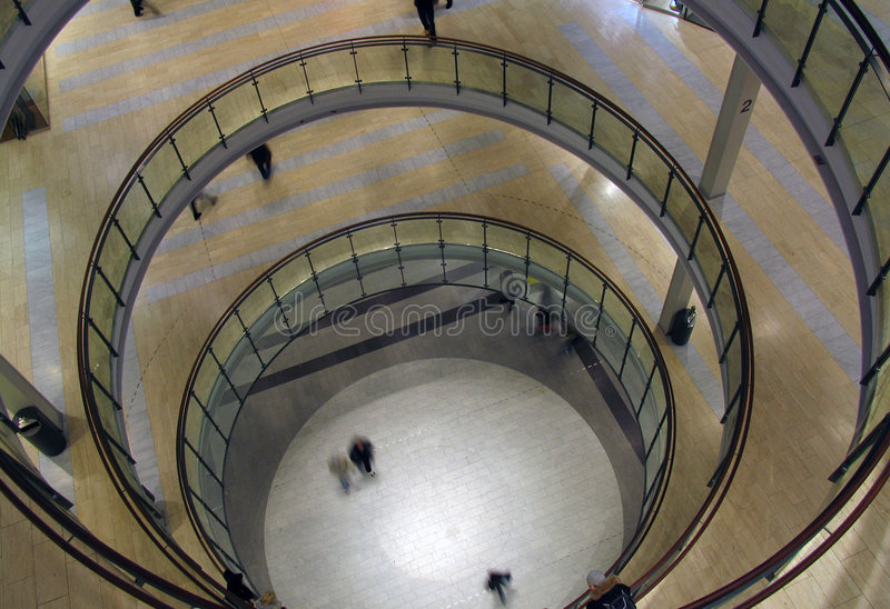 Shopping centre in Helsinki stock photography