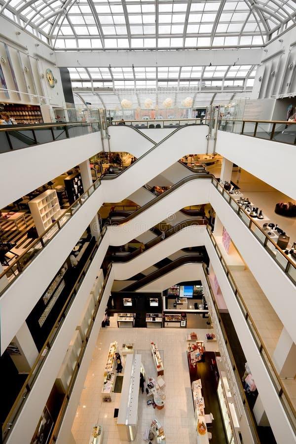 Shopping centre interior royalty free stock photo