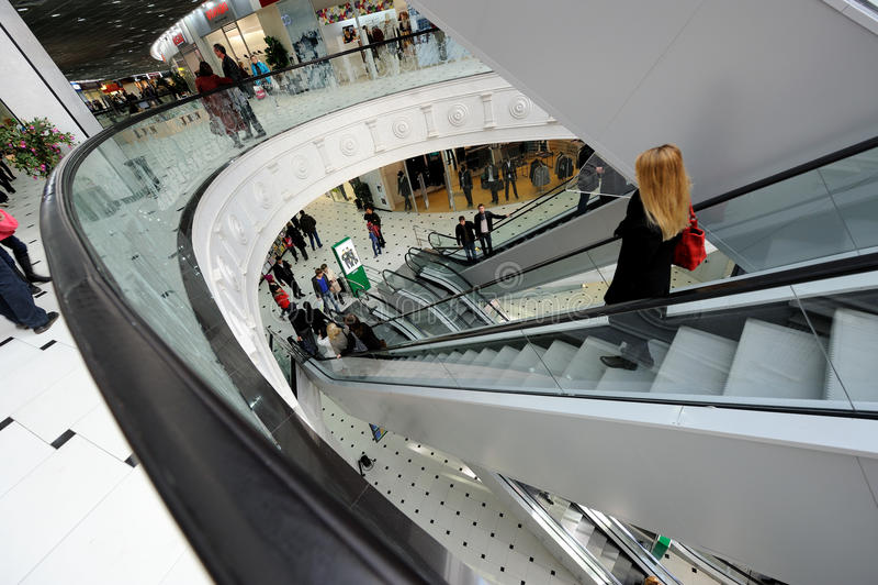 Shopping centre (mall) royalty free stock photos