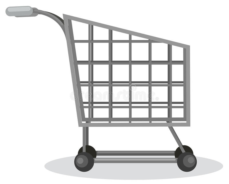 Shopping chart. Illustration of isolated shopping chart on white background vector illustration