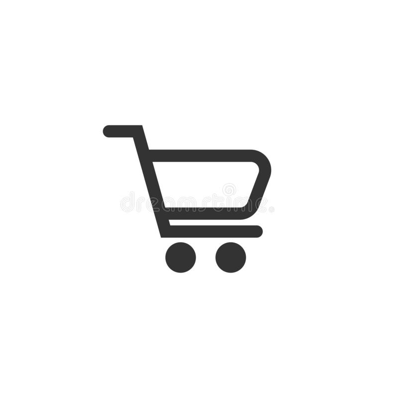 Shopping chart icon in simple design. Vector illustration royalty free illustration
