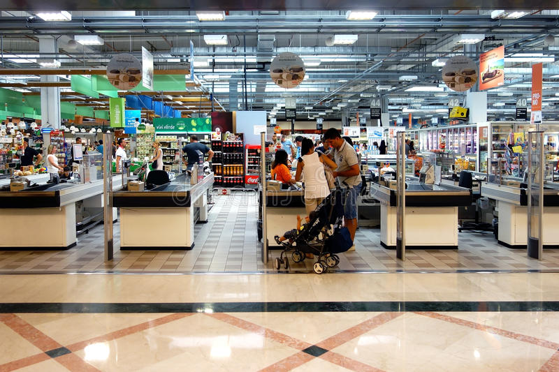 Shopping Check out Supermarket Store royalty free stock photo