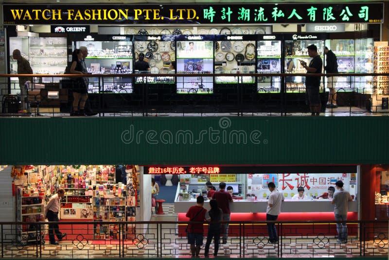 Shopping chinês singapore imagens de stock