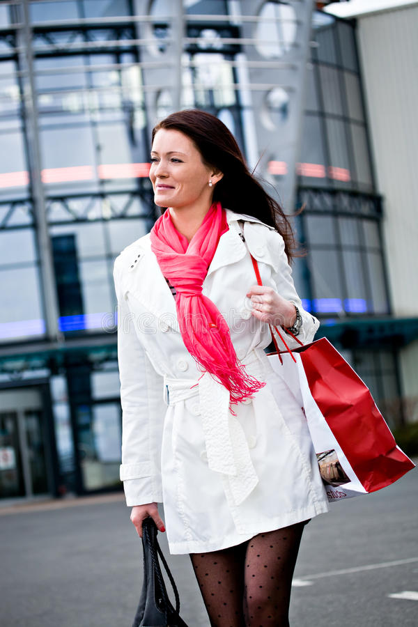 Download Shopping in the city stock photo. Image of happiness - 22864802