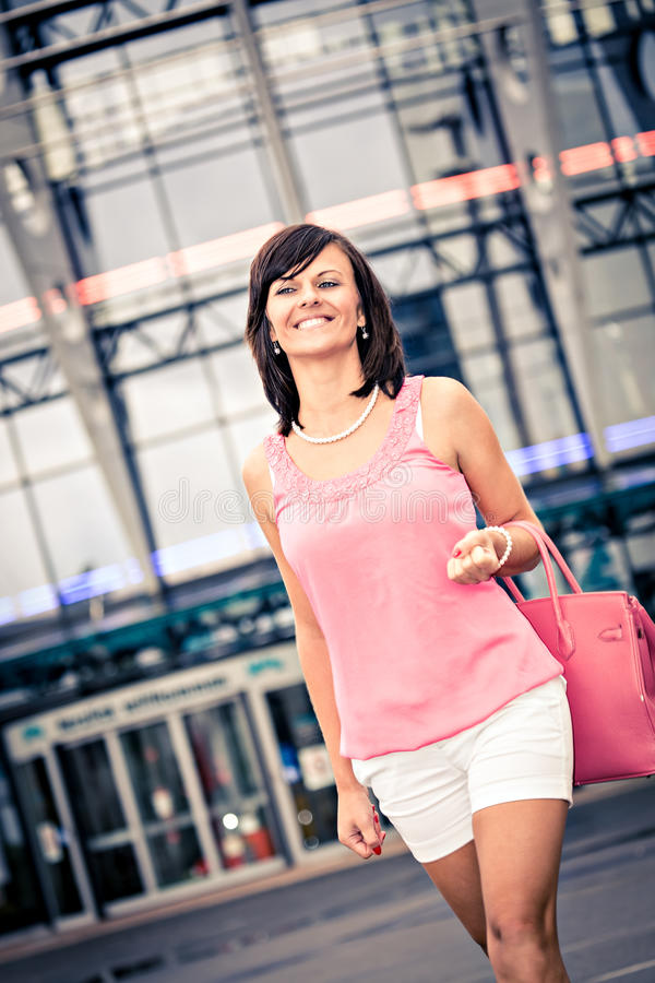 Download Shopping in the city stock photo. Image of happiness - 26480488
