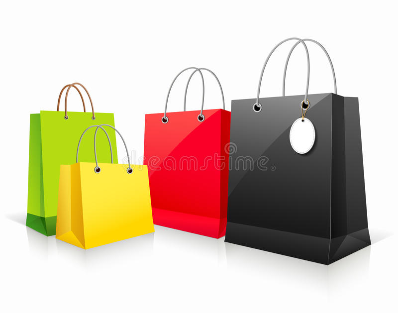 Download Shopping Collection Colorful Bag Stock Illustration - Image: 25809465
