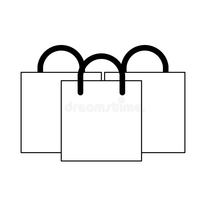 Shopping commerce business sales cartoon in black and white royalty free illustration