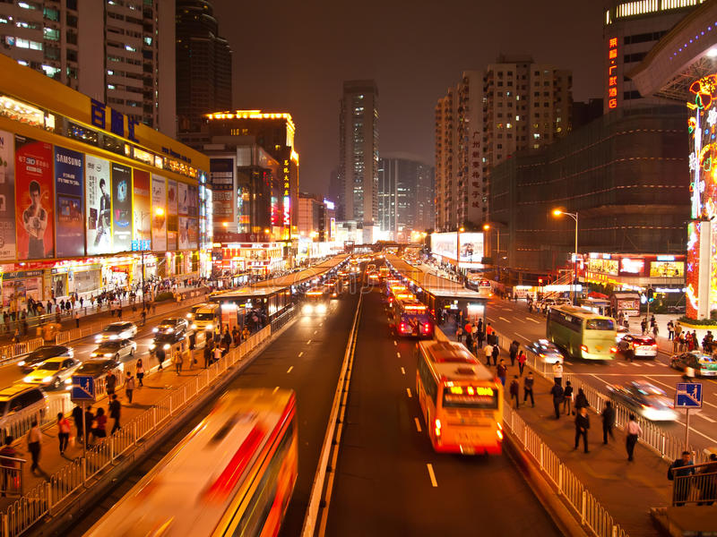 Shopping Computer Market ,Tianhe road , Guangzhou stock images