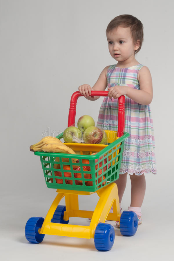 Download Shopping Concept - Child With Shopping Cart Stock Image - Image: 23119861