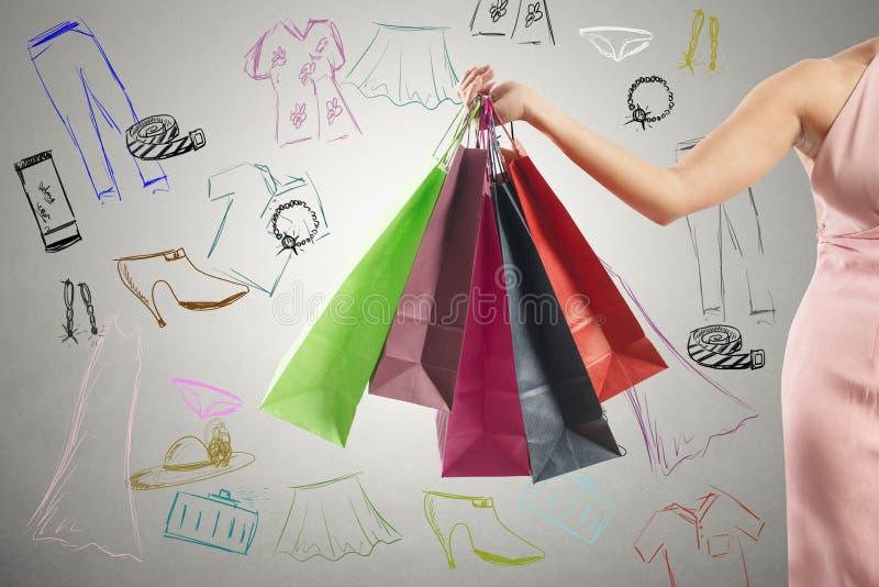 Shopping concept royalty free stock photos