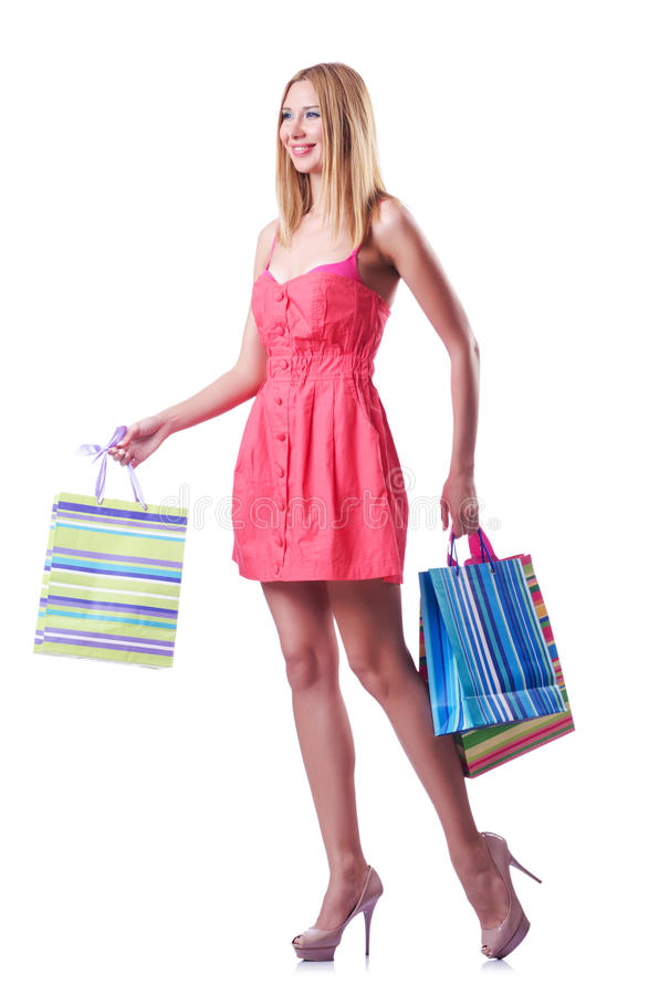 Download Shopping Concept With Woman Stock Image - Image: 26480263