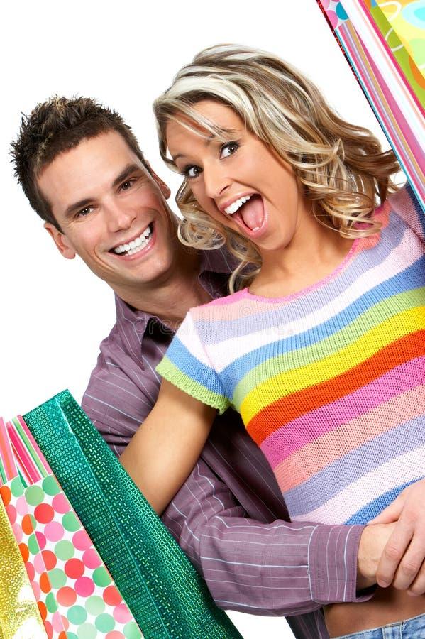 Shopping couple stock images