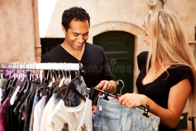 Download Shopping Couple Europe stock photo. Image of market, retail - 14364752