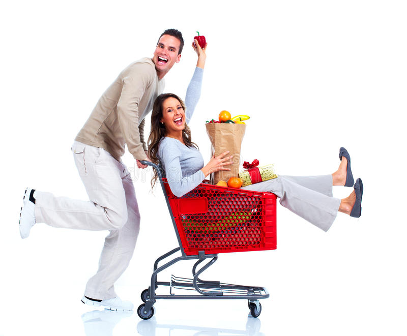 Shopping Couple. Royalty Free Stock Photography