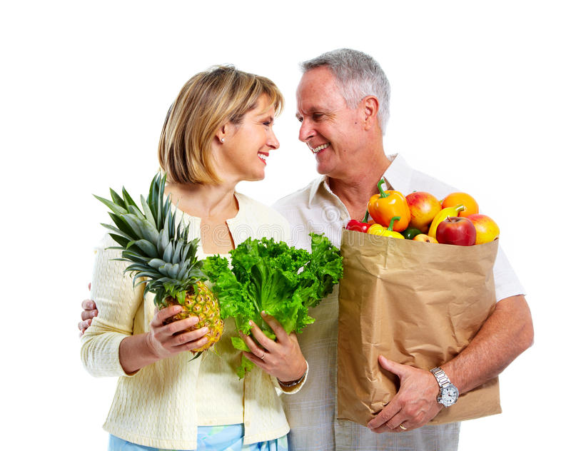 Shopping couple. stock photo