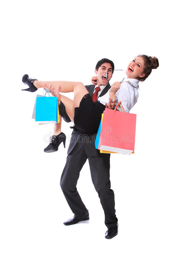 Download Shopping Couple Smiling Stock Image - Image: 18648111