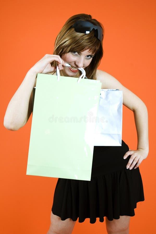 Shopping craze royalty free stock images