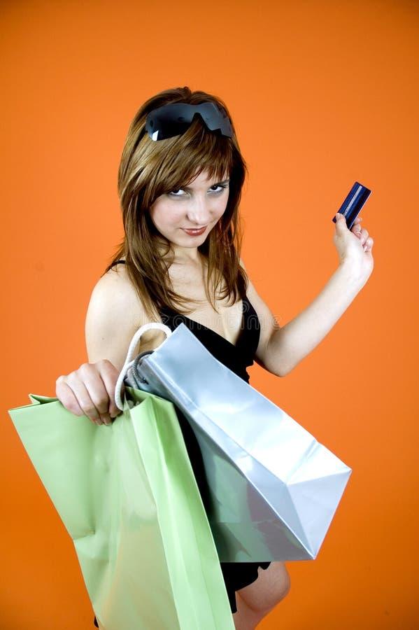 Shopping craze royalty free stock photos