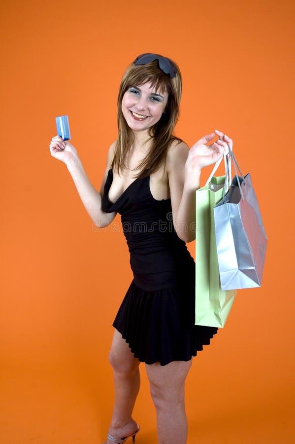 Shopping craze stock photo