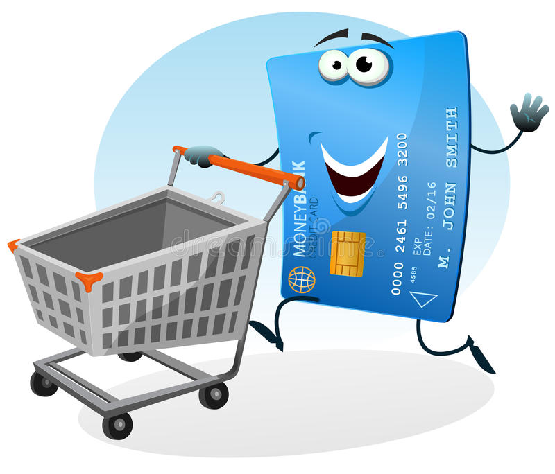 Download Shopping With Credit Card stock vector. Illustration of market - 26671168