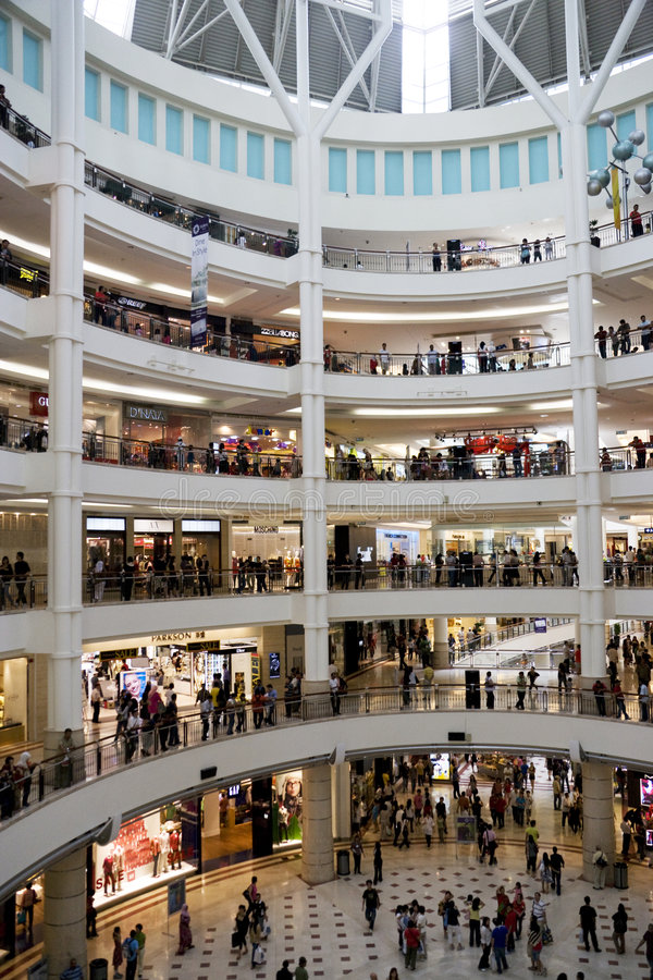 Download Shopping Crowd editorial stock image. Image of motion - 7601889