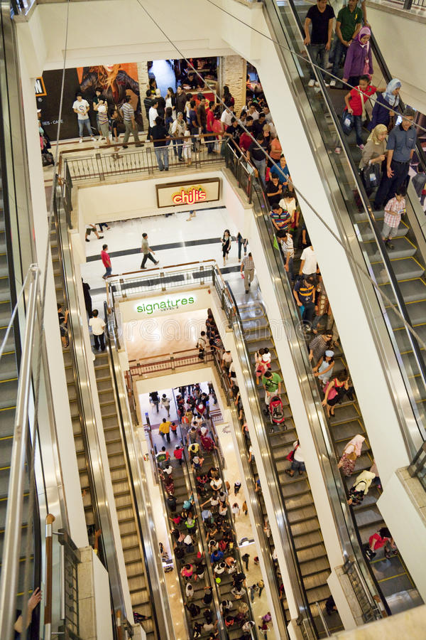Download Shopping Crowd On Escalator Editorial Stock Photo - Image: 12679278