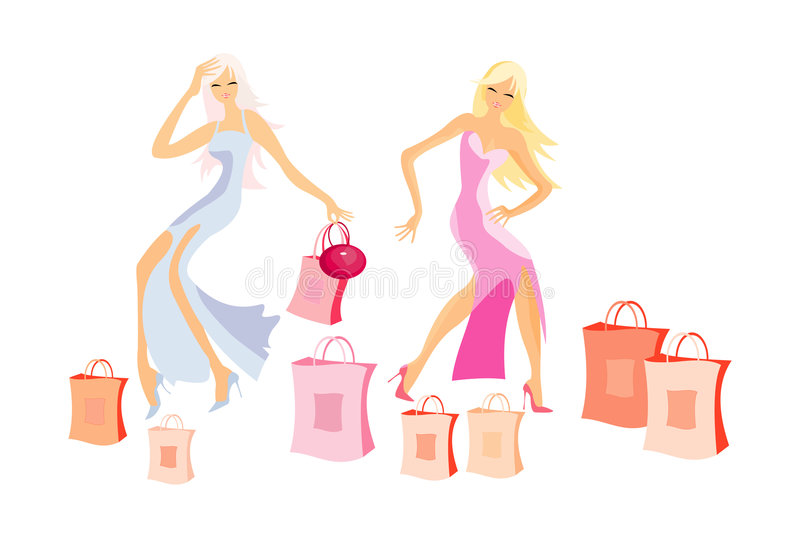 Shopping dance royalty free stock photography