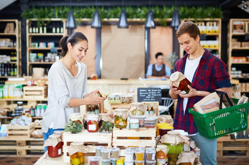 Shopping Day of Lovely Couple royalty free stock image