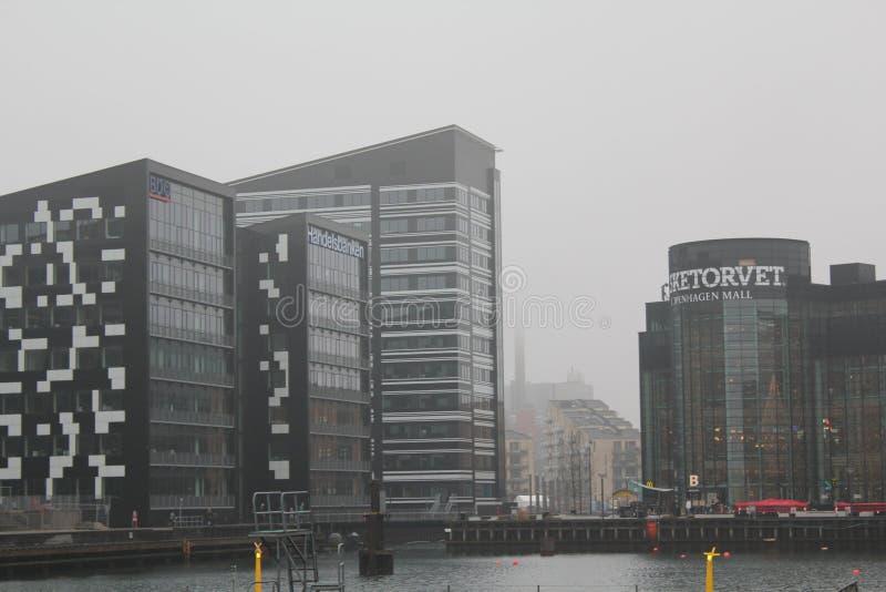 Shopping de Fisketorvet, Copenhaga, Dinamarca Dia de inverno cinzento imagem de stock royalty free