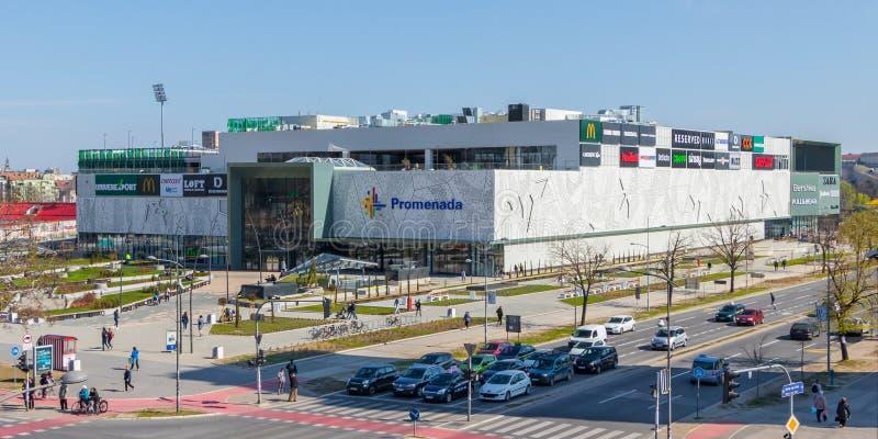 Shopping de Promenada em Novi Sad, Sérvia imagens de stock