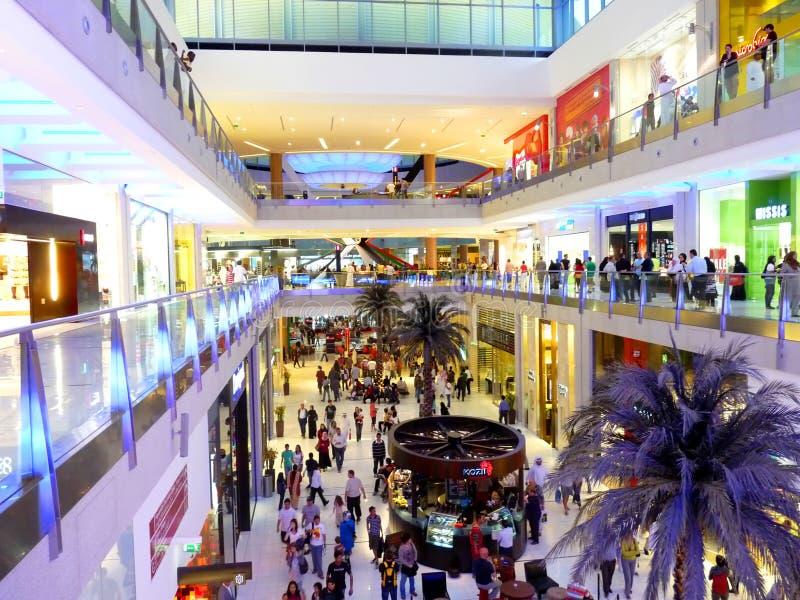 Shopping at Dubai Mall stock images