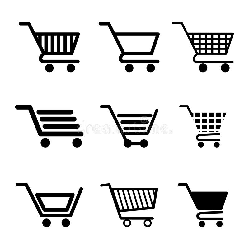 Shopping and ecommerce graphic design with icons. Vector illustration vector illustration