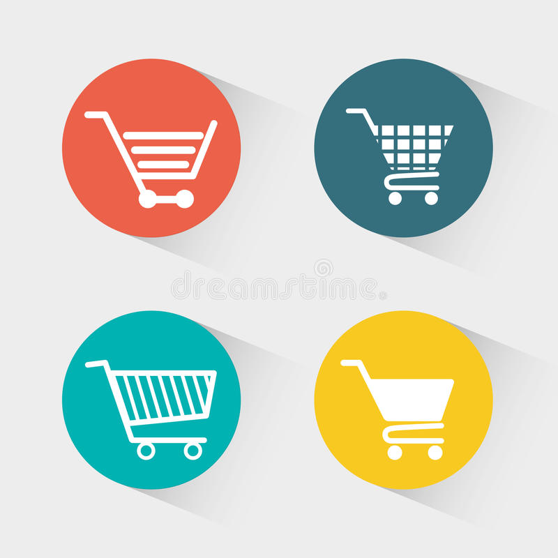 Shopping and ecommerce graphic design with icons. Vector illustration royalty free illustration