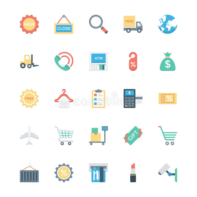 Shopping, Ecommerce, Retail and Shipping Vector Icons 2 vector illustration