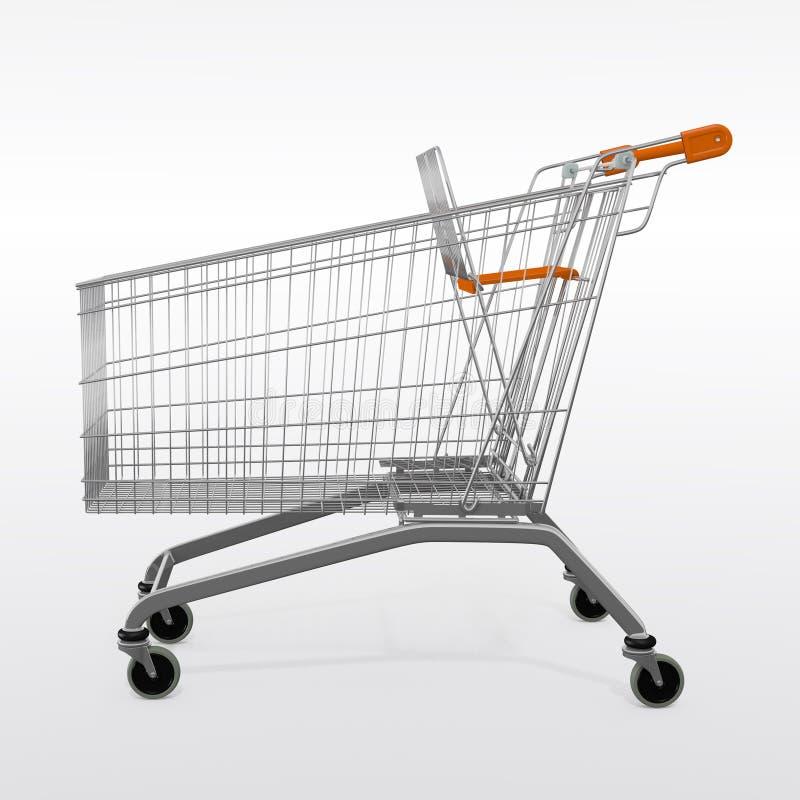 A shopping empty trolley cart stock photos