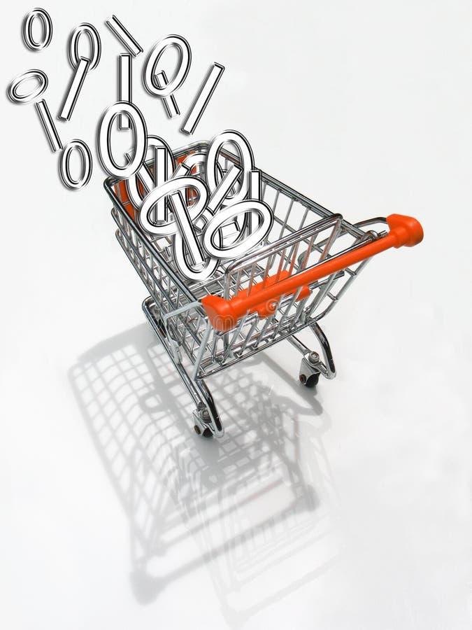 shopping för 3 vagn royaltyfria bilder