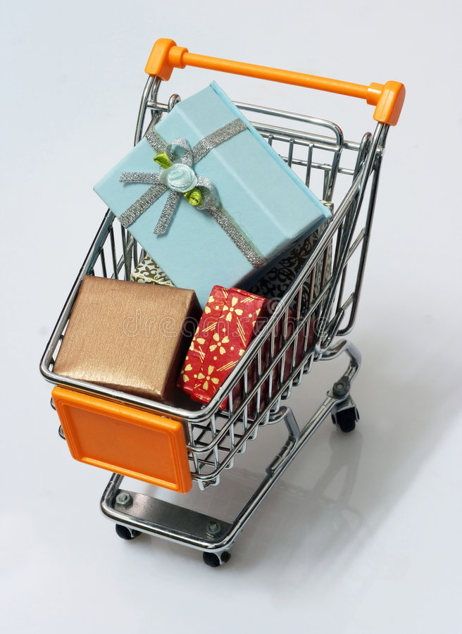shopping för 9 vagn royaltyfri fotografi