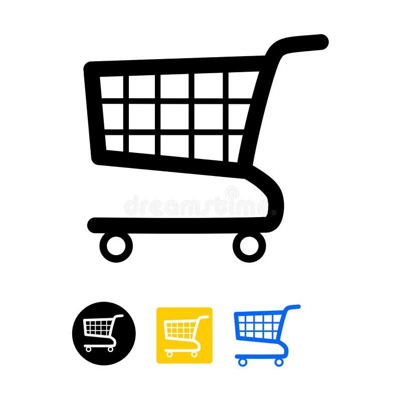 shopping för serie för vagnssymbol röd stock illustrationer